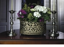 Dessau Home Antique Silver Scroll Resin Planter