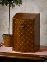 Dessau Home Wood Finish Hinged Box with Diamond Pattern