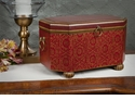 Dessau Home Red Wood Moroccan Box