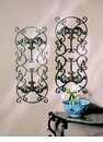 Dessau Home Fleur De Lis Wall Panels Bronze Iron with Brass Medal