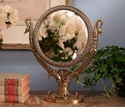 Dessau Home Antique Brass Double Sided Swan Mirror
