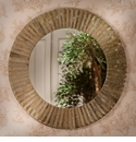 Dessau Home Antique Gold Faceted Sunburst Mirror