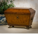 Dessau Home Mahogany Finish Angled Footed Box