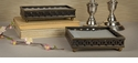 Dessau Home Antique Black Wood Guest Towel Holder