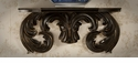 Dessau Home Antique Black Rococo Resin Wall Shelf
