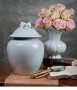 Dessau Home Blue Porcelain Ginger Jar