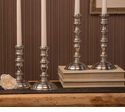 Dessau Home Pewter Step Candlestick