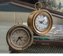 Dessau Home Antiqued Brass Round Face Alarm Clock