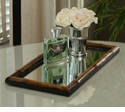 Dessau Home Bamboo Vanity Mirrored Tray