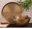 Dessau Home Antiqued Hammered Brass Rice Bowl