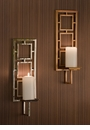 Dessau Home Nickel Squares Wall Sconce