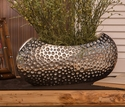 "Hammered Nickel ""Dimple"" Centerpiece by Dessau Home"