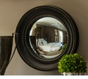 Dessau Home Black and Gold Colonial Convex Mirror