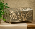 Dessau Home Teal and Silver Leaf Box