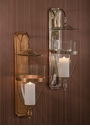Dessau Home Nickel Glass Dome Wall Sconce