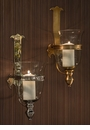 Dessau Home Antiqued Brass Medieval Wall Sconce
