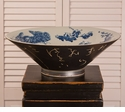 Dessau Home Black and  Blue 100 Yr. History Bowl