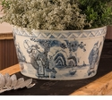 Blue and White Cache Pot by Dessau Home