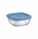 Duralex Square Glass Storage Bowl with Lid 20 Oz.
