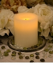 "Candle Impressions Flameless Candles Cream 4"" Smooth Unscented"