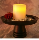 "Candle Impressions Flameless Candles White 4"" Smooth Unscented"