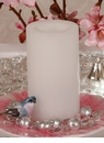 "Candle Impressions Flameless Candles White 6"" Smooth Unscented"