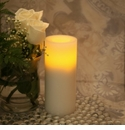 "Candle Impressions Flameless Candles Cream 8"" Smooth Unscented"
