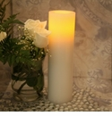 "Candle Impressions Flameless Candles White 10"" Smooth Vanilla Fragrance"