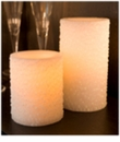 "Candle Impressions Flameless Candles White 6"" Iridescent Icicles Unscented"