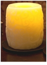 "Candle Impressions Flameless Candles Cream 4"" Swirl Hurricane Vanilla Fragrance"