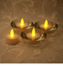 Candle Impressions Flameless Candles White Plastic Tea Lights (4 Pack)