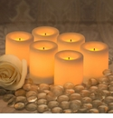 "Candle Impressions Flameless Candles White 1.75"" Smooth Votive Unscented (6 Pack)"