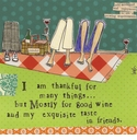 Curly Girl 20 ct Cocktail Napkins - Thankful For