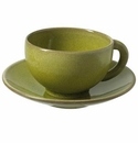 Jars Ceramics Tourron Avocado Tea Cup & Saucer 6.1 oz