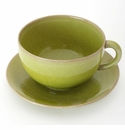 Jars Ceramics Tourron Avocado Jumbo Cup & Saucer 15.2 oz