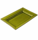 "Jars Ceramics Tourron Avocado Rectangular Dish 11.8""X8"""