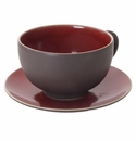 Jars Ceramics Tourron Cherry Jumbo Cup & Saucer 15.2 oz