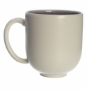 Jars Ceramics Tourron Eggplant & White Mug 12.2 oz