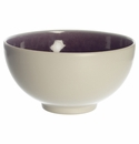 "Jars Ceramics Tourron Eggplant & White Cereal Bowl 6.1""X3.5"""