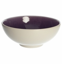 "Jars Ceramics Tourron Eggplant & White Fruit Bowl 5.5""X2.4"""