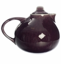 Jars Ceramics Tourron Eggplant & White Teapot 47.3 oz