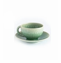 Jars Ceramics Tourron Jade Tea Cup & Saucer 6.1 oz