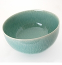 "Jars Ceramics Tourron Jade Serving Bowl L 10.6"" X 5.9"""