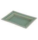 "Jars Ceramics Tourron Jade Rectangular Dish L 14.2""X10.6"""