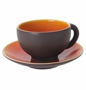 Jars Ceramics Tourron Orange Tea Cup & Saucer 6.1 oz