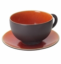 Jars Ceramics Tourron Orange Jumbo Cup & Saucer 15.2 oz