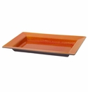 "Jars Ceramics Tourron Orange Rectangular Dish 11.8""X8"""