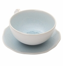 Jars Ceramics Plume Ocean Blue Tea Cup & Saucer 6.7 oz