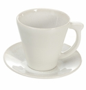 Jars Ceramics Vuelta White Pearl Coffee Cup & Saucer 5 oz