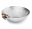 "Mary Jurek Apollo 7"" Round Bowl - Leaf - Stainless Steel"
